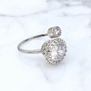 Adjustable CZ Fashion Ring